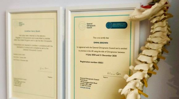 Chiropractic registration and qualification in Andover